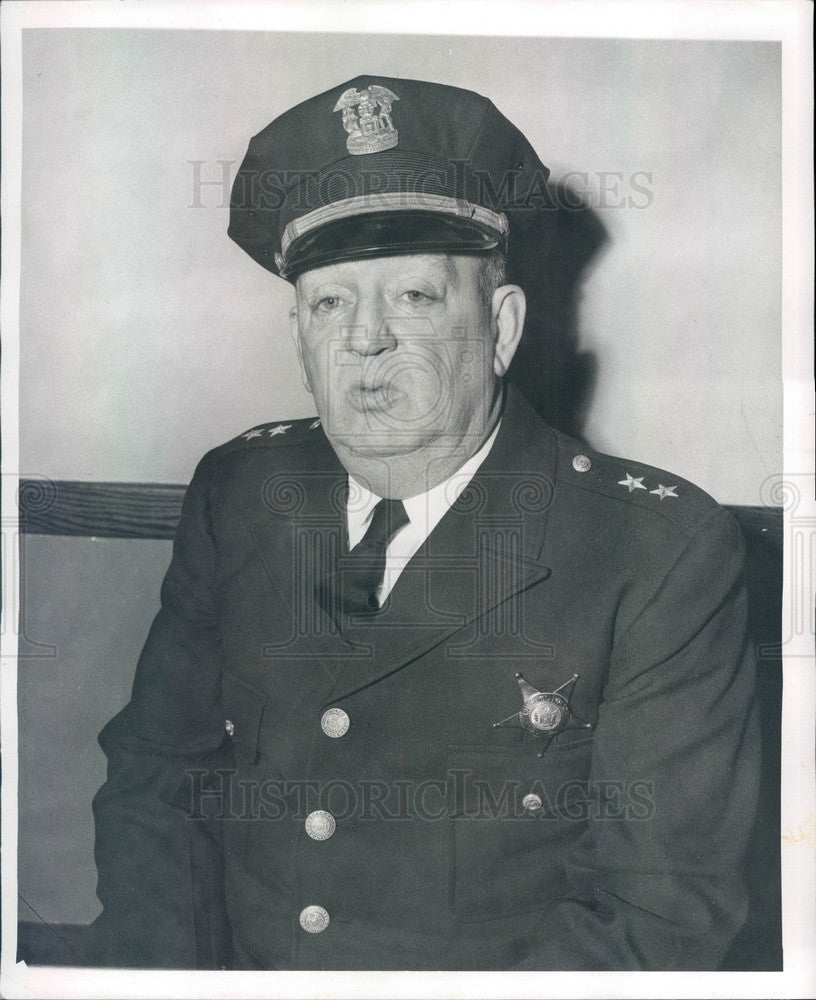1951 Chicago, IL Lawndale Police Capt James McCarthy Press Photo - Historic Images