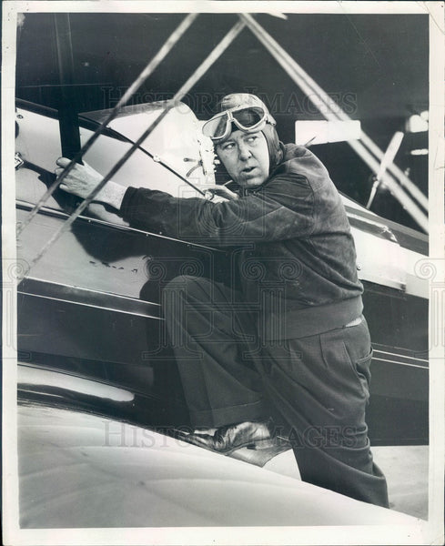 1936 Chicago Times Aviation Editor Maurice Roddy Press Photo - Historic Images
