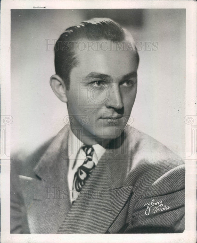 1956 Orchestra Leader Del Rene Press Photo - Historic Images