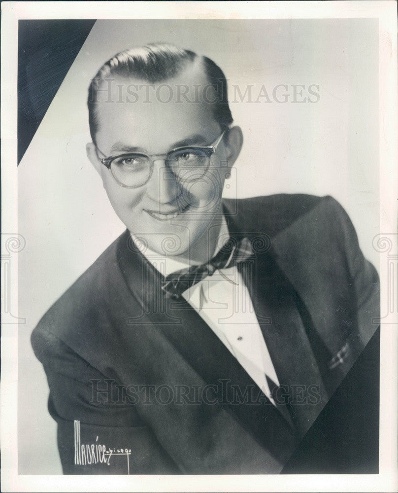 1959 Orchestra Leader Del Rene Press Photo - Historic Images