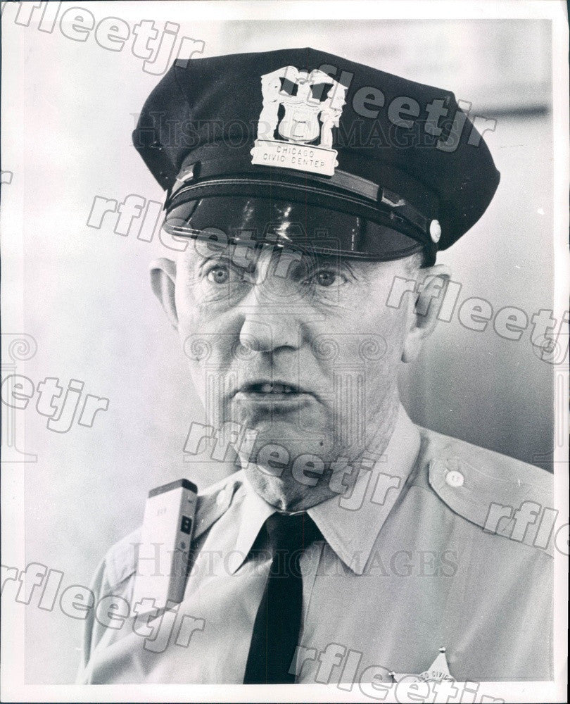 1969 Chicago, Illinois Police Officer Pat Durkin Press Photo adr143 - Historic Images