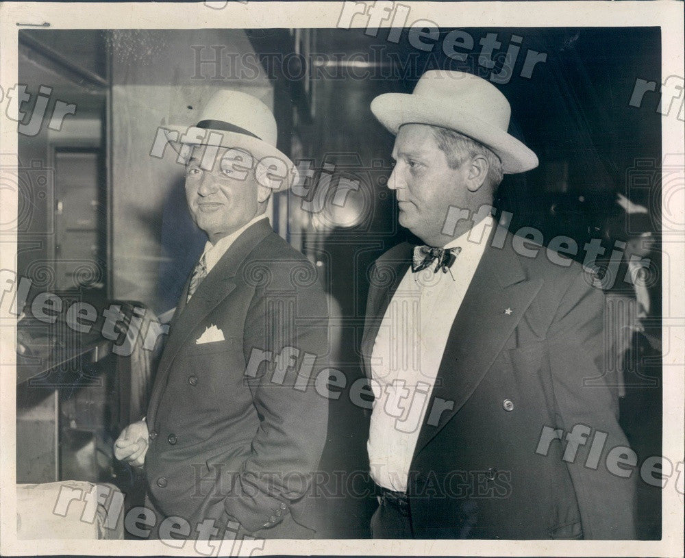 1950 Chicago, IL Accused Embezzler George Scalise Press Photo adr195 - Historic Images