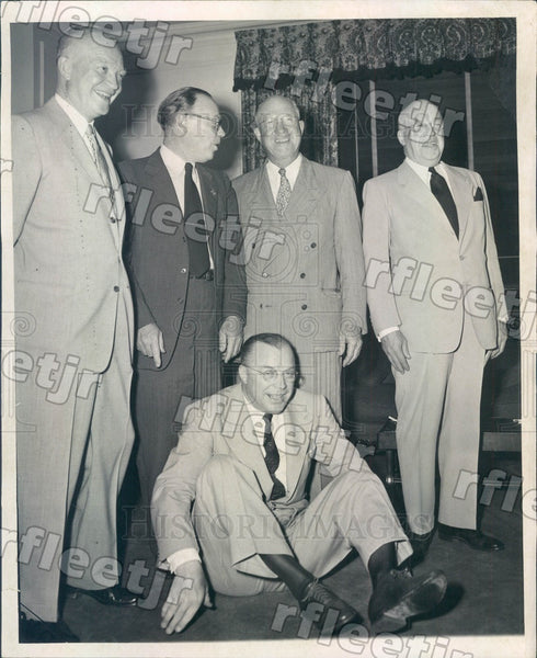 1952 US President Dwight Eisenhower & Brothers Earl, Arthur Press Photo adr21 - Historic Images