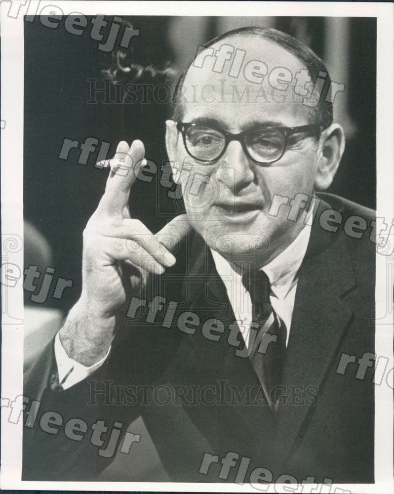 1969 ABC News State Department Correspondent John Scali Press Photo adr247 - Historic Images