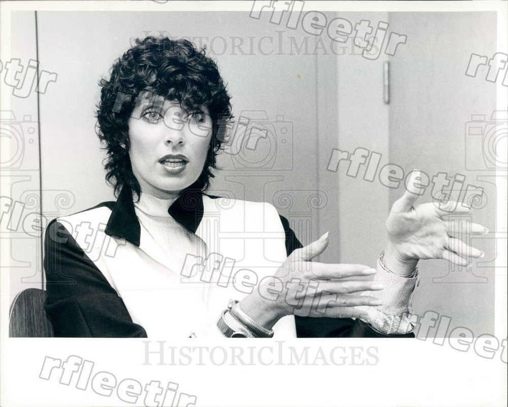 1982 Actress, Author Beverly Sassoon Press Photo adr293 - Historic Images