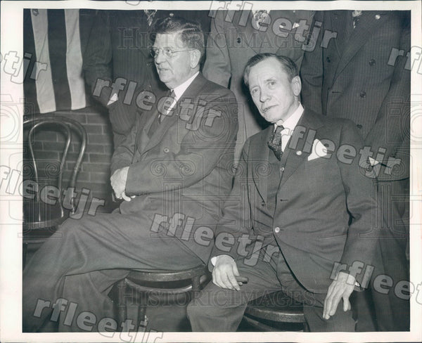 1939 Chicago IL Mayor EJ Kelly & James Denvir, Democratic Ward Press Photo adr29 - Historic Images