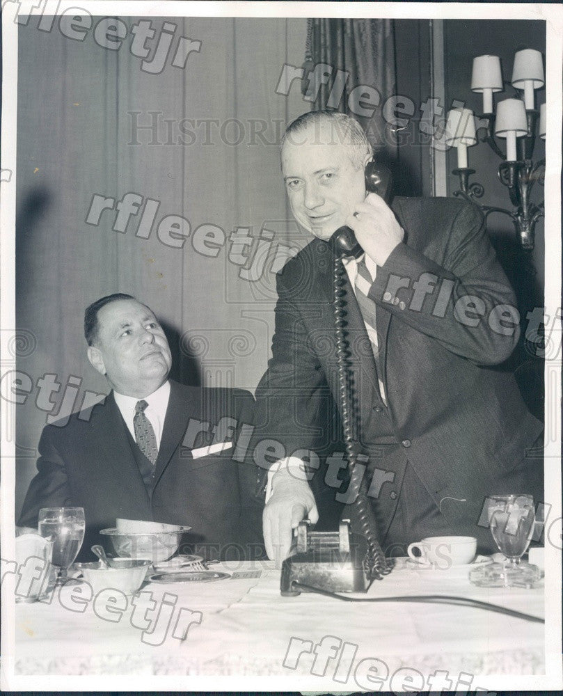 1959 Chicago, IL School Supt Dr Benjamin Willis & Ed Logelin Press Photo adr355 - Historic Images