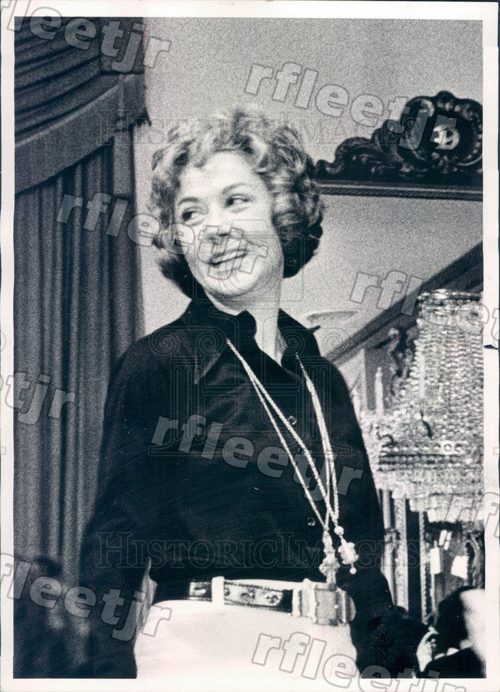 382a2af5fad 1972 Award Winning American Fashion Designer Anne Klein Press Photo ... anne  klein fashion