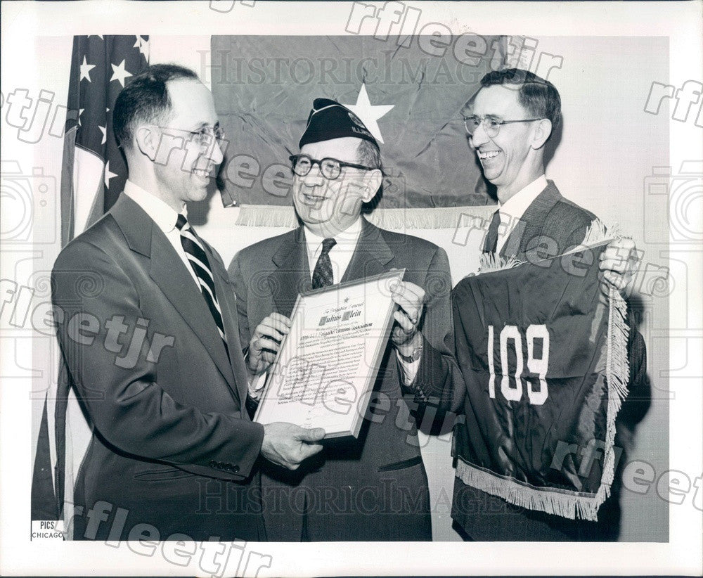 1954 Chicago, IL 109th AAA Brigade Veterans Assn Members Press Photo adr493 - Historic Images