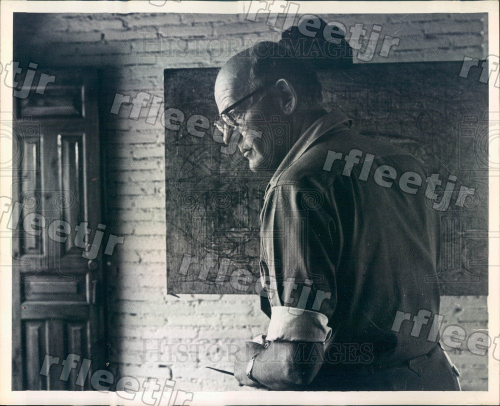 1964 American Artist Clinton King Press Photo adr537 - Historic Images