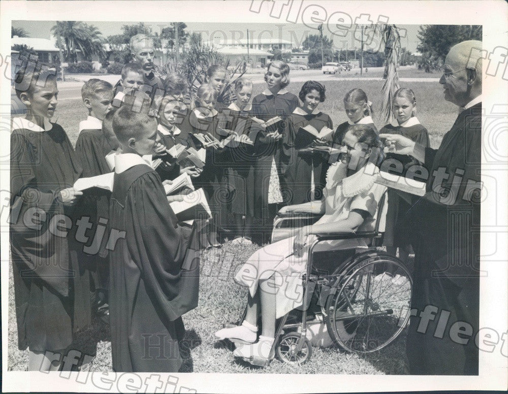 1958 St. Petersburg, Florida Church by the Sea Jr Choir Press Photo adr557 - Historic Images
