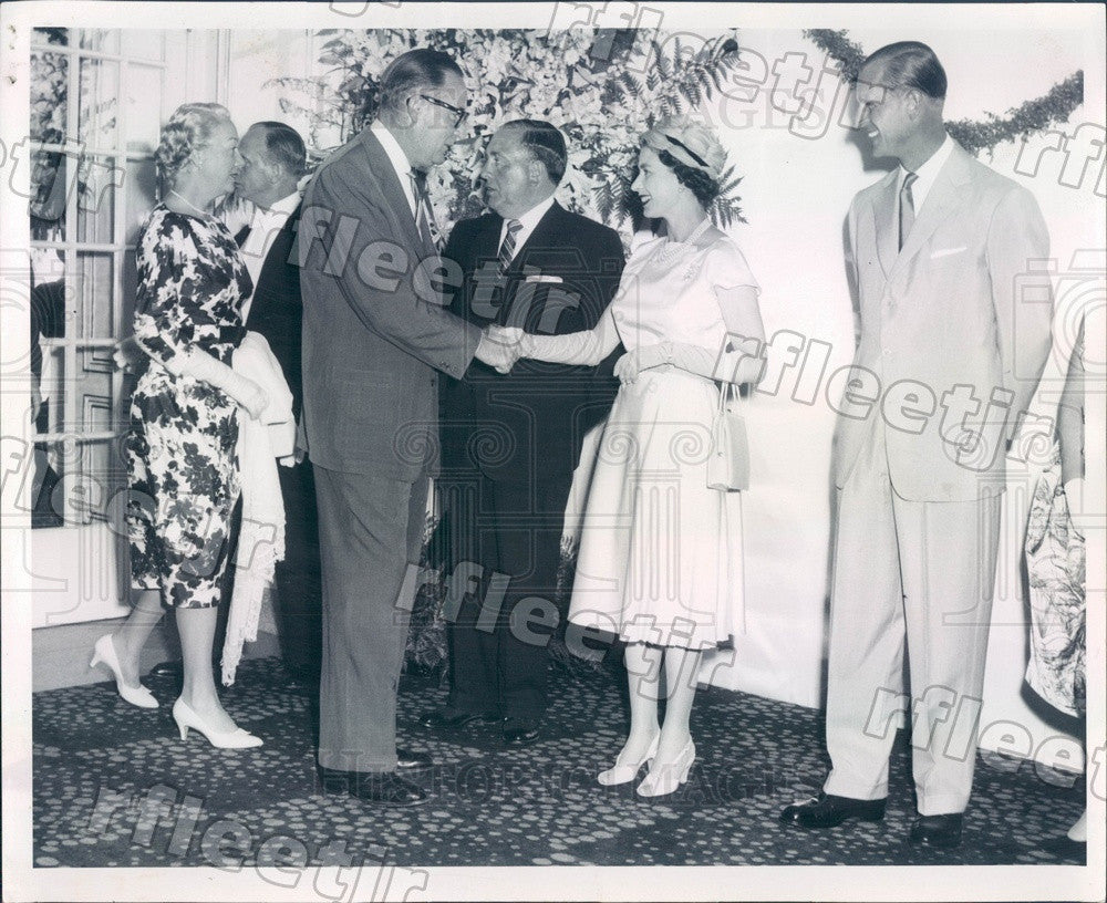 1959 England Queen Elizabeth II, Prince Philip, Chicago Mayor Press Photo adr99 - Historic Images