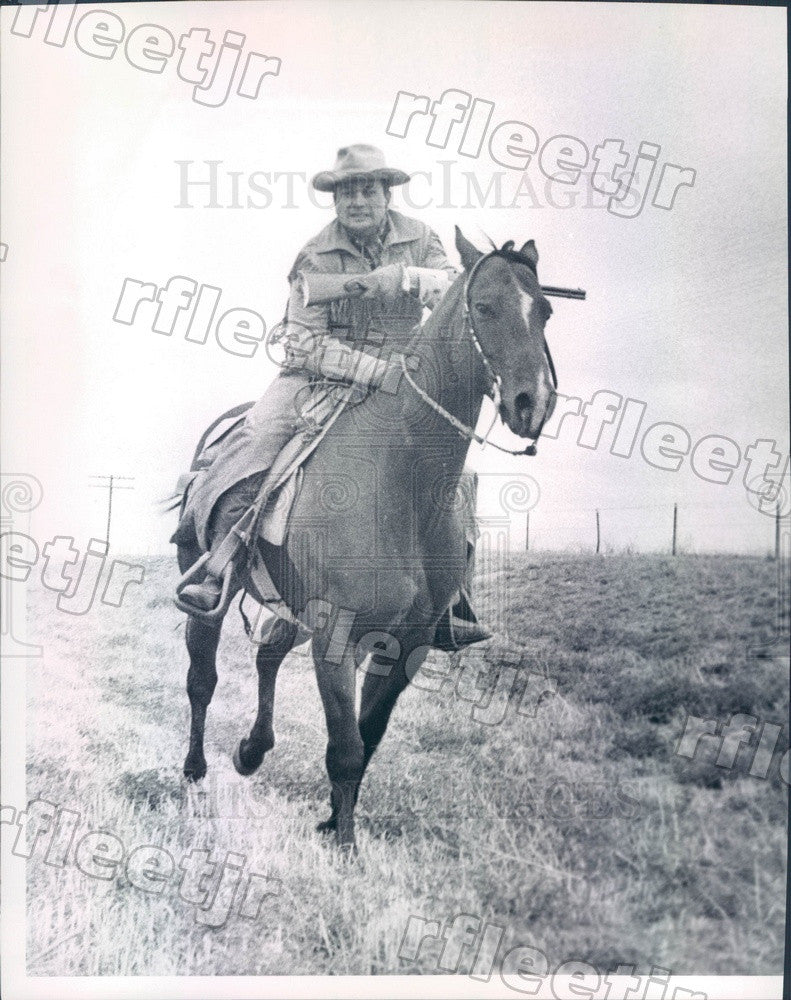1966 Colorado, James Rikhoff on Pony Express Reenactment Ride Press Photo ads223 - Historic Images