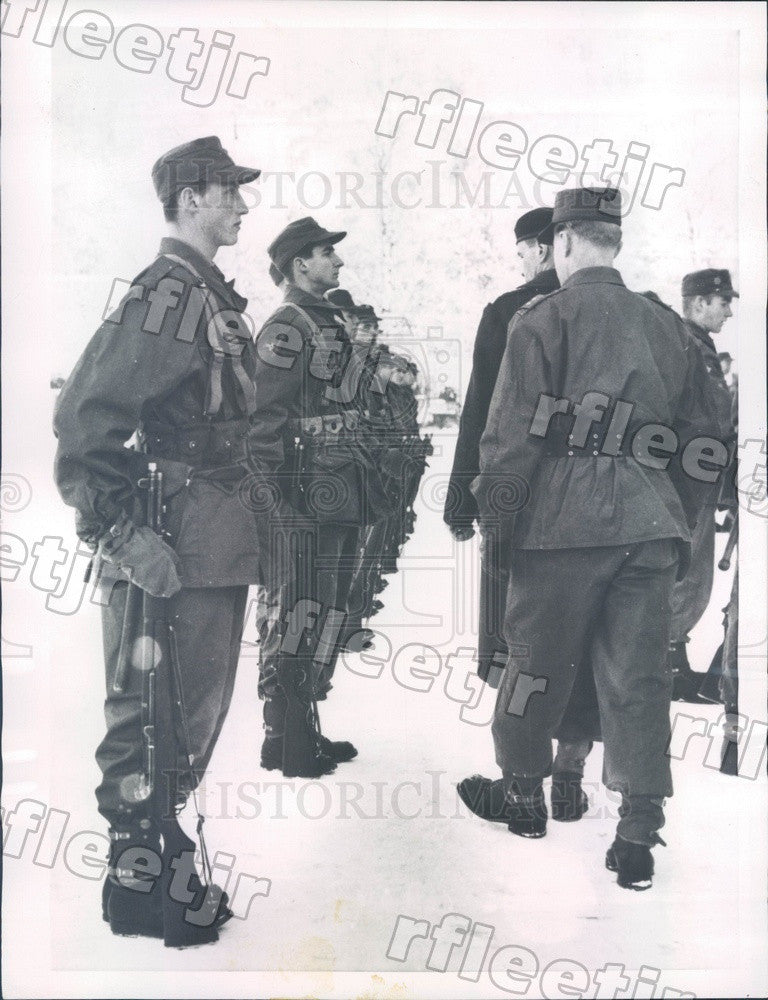 1956 Norway, Prince Harald in Military Training Press Photo ads3 - Historic Images