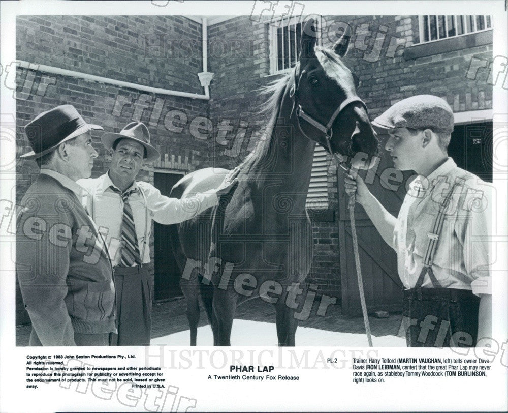 1983 Actors Martin Vaughan, Ron Leibman, Tom Burlinson Press Photo ads315 - Historic Images
