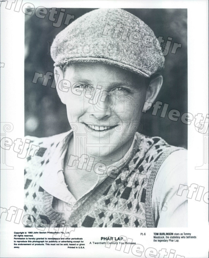 1983 Australian Actor, Singer, TV Host Tom Burlinson Press Photo ads327 - Historic Images