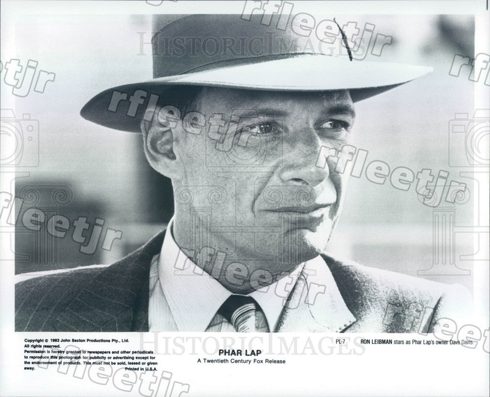 1983 Tony, Emmy Winning Actor Ron Leibman in Film Phar Lap Press Photo ads329 - Historic Images