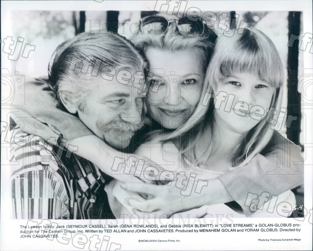 1983 Actors Seymour Cassel, Gena Rowlands, Risa Blewitt Press Photo ads357 - Historic Images