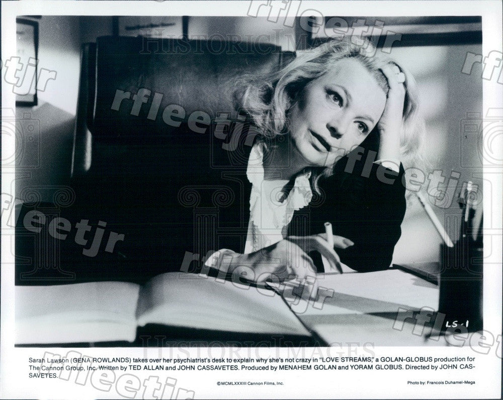 1983 Emmy Winning Hollywood Actress Gena Rowlands Press Photo ads359 - Historic Images