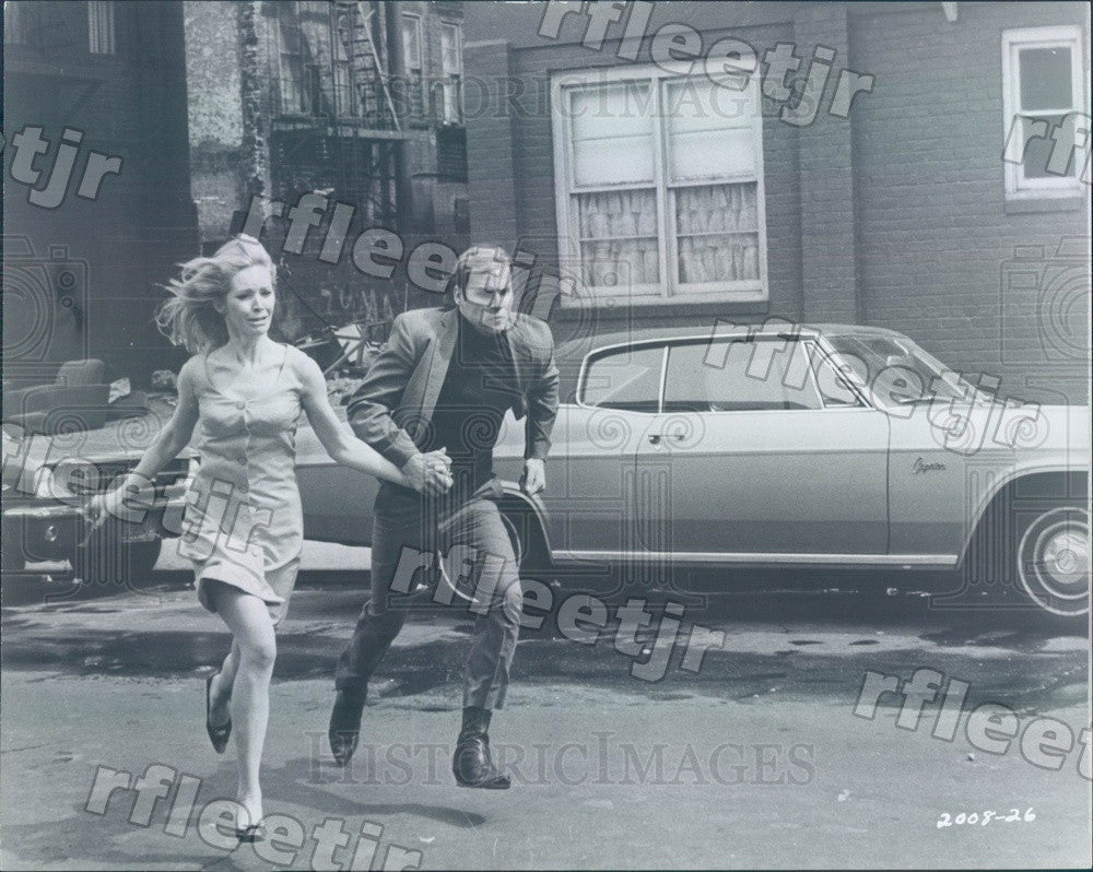 1968 Actors Kay Turner & Don Stroud in Film Madigan Press Photo ads467 - Historic Images