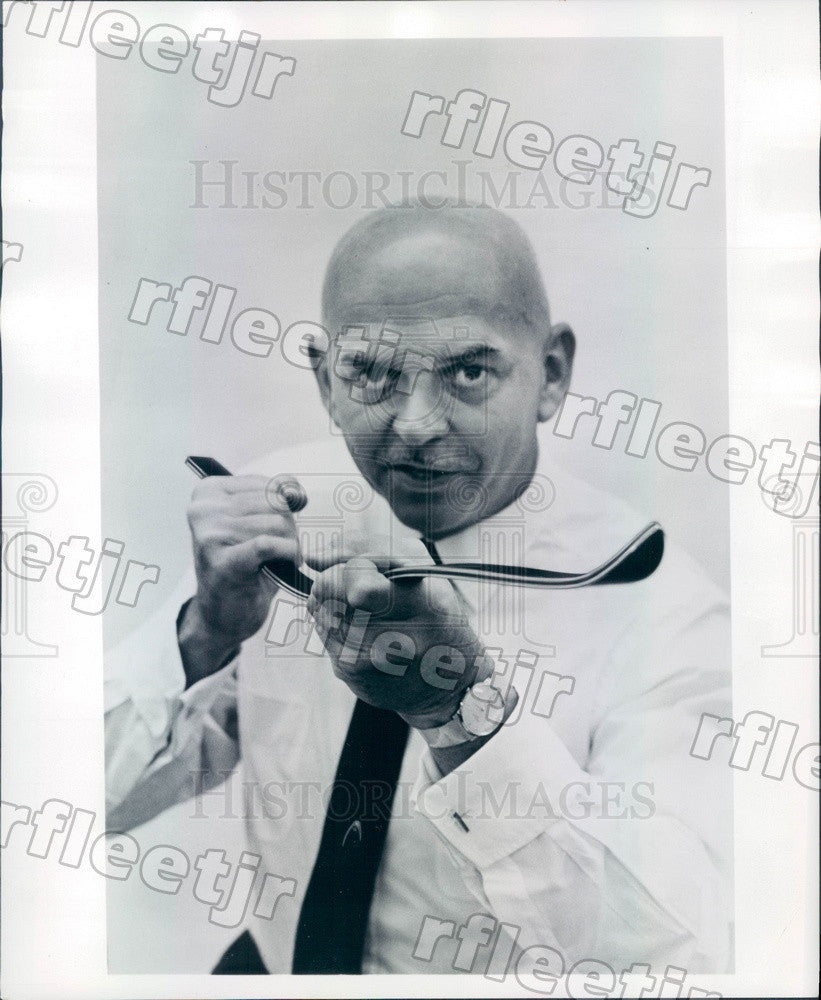 1967 American Engineer Howard Head, Laminate Ski Inventor Press Photo ads51 - Historic Images
