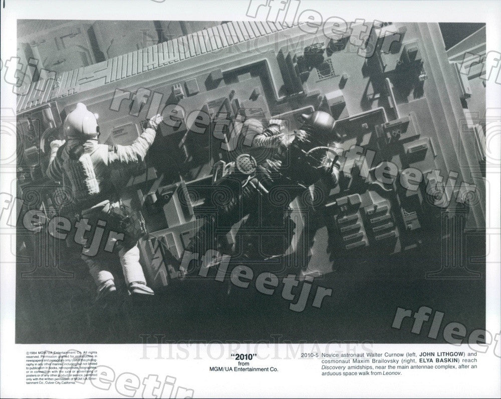 1984 Emmy, Tony Winning Actor John Lithgow & Elya Baskin Press Photo ads521 - Historic Images