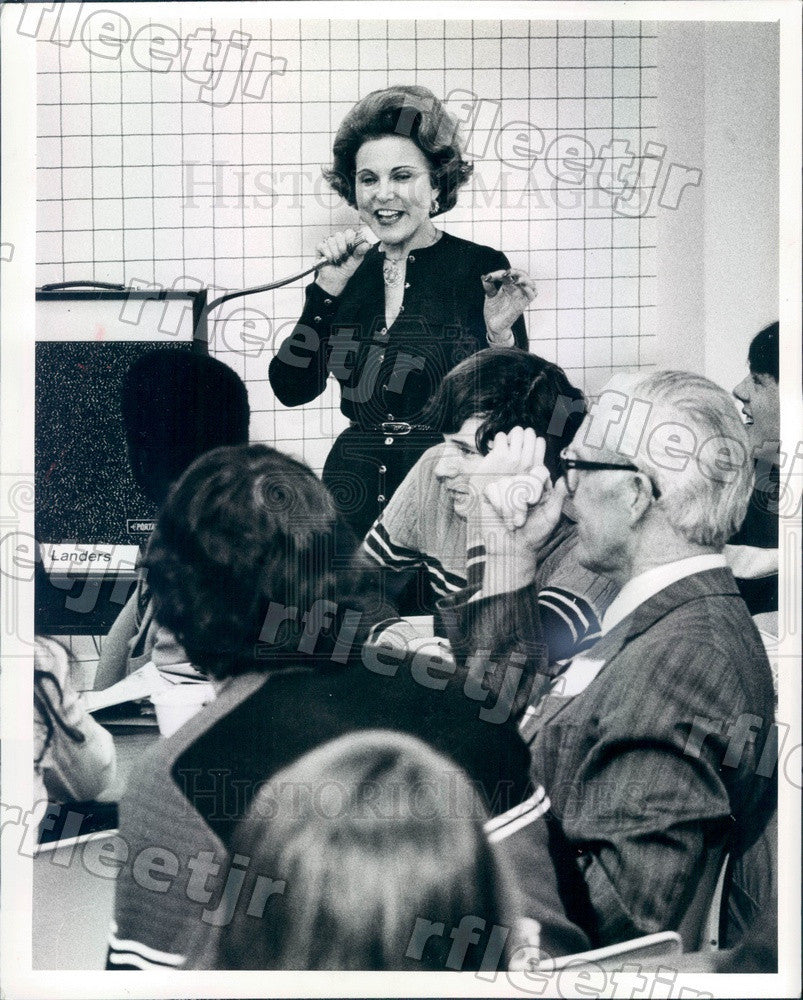 1982 Advice Columnist Ann Landers, Eppie Lederer Press Photo ads579 - Historic Images