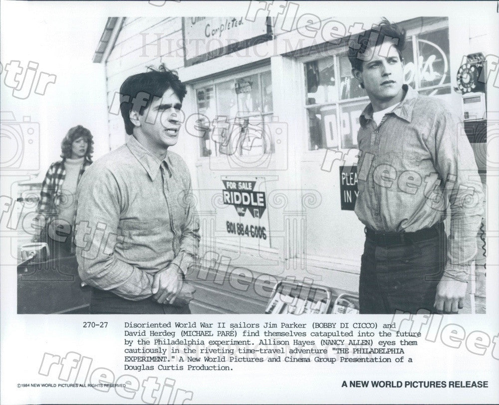 1984 Actors Bobby Di Cicco, Michael Pare, Nancy Allen Press Photo adt15 - Historic Images