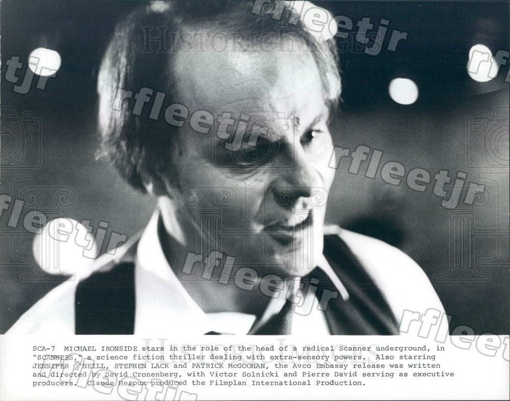 Undated Canadian Actor Michael Ironside in Film Scanners Press Photo adt211 - Historic Images