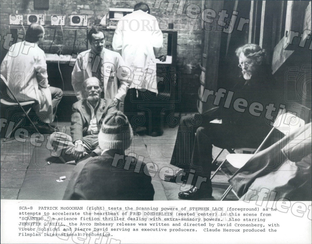 Undated Actors Patrick McGoohan, Stephen Lack Press Photo adt215 - Historic Images