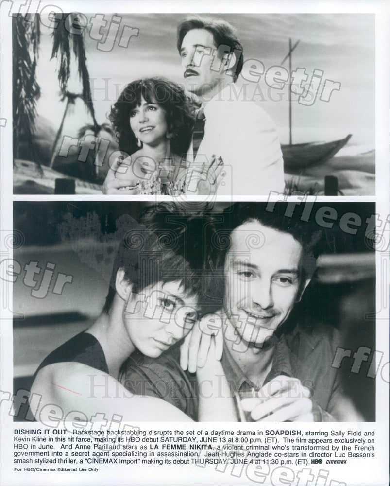 Undated Actors Sally Field, Kevin Kline, Anne Parillaud Press Photo adt221 - Historic Images