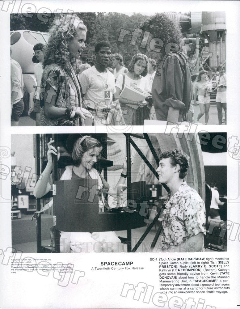 1986 Actors Kate Capshaw, Lea Thompson, Kelly Preston Press Photo adt247 - Historic Images