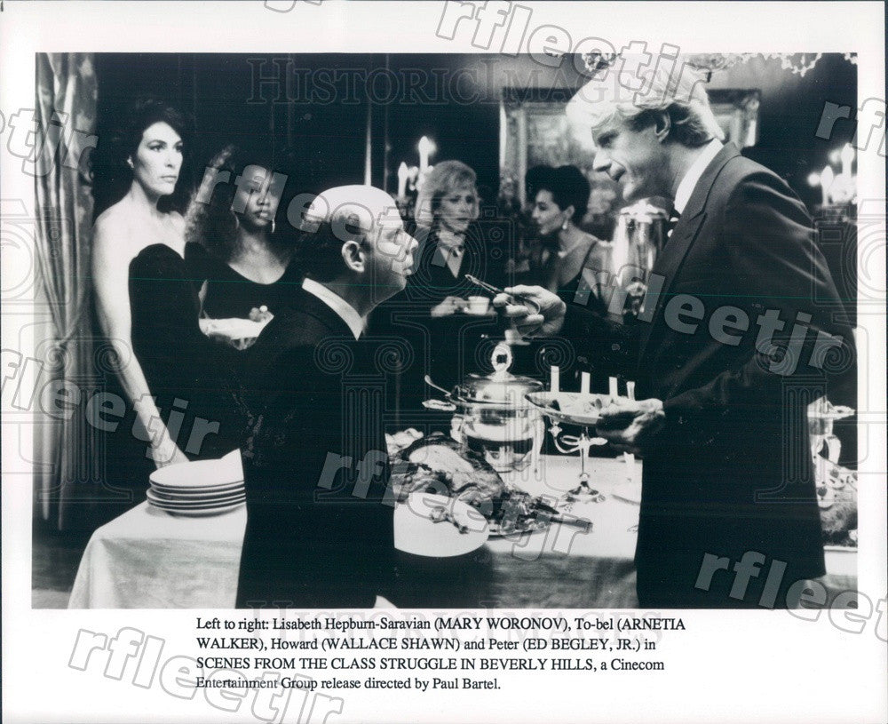 Undated Actors Ed Begley Jr, Mary Woronov, Arnetia Walker Press Photo adt291 - Historic Images