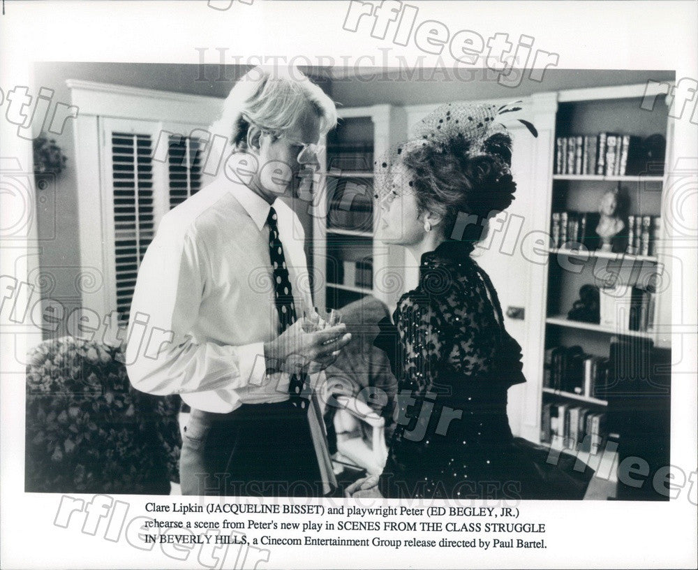 Undated Actors Ed Begley Jr & Jacqueline Bisset in Film Press Photo adt293 - Historic Images