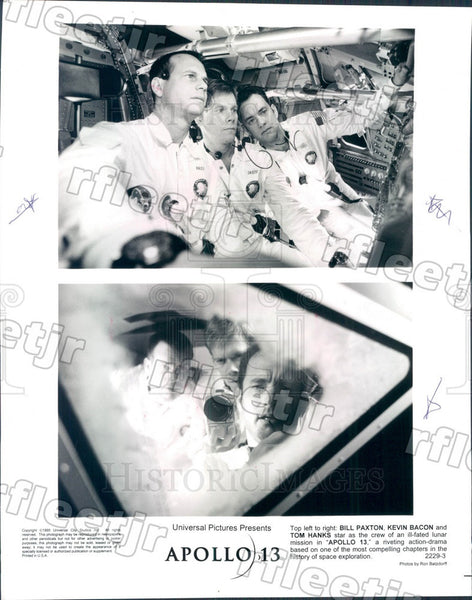 1995 Actors Tom Hanks, Kevin Bacon, Bill Paxton in Apollo 13 Press Photo adt349 - Historic Images