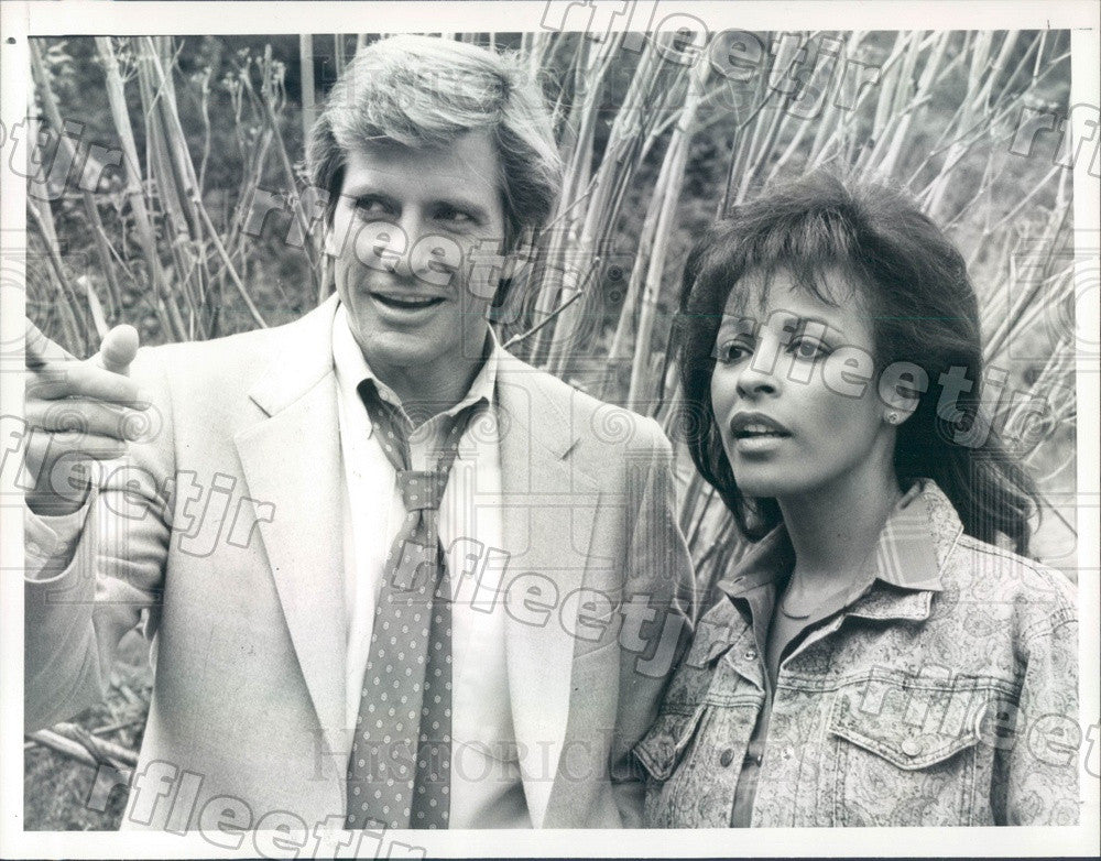 1986 Actors Dirk Benedict & Sheila DeWindt on TV The A-Team Press Photo adt371 - Historic Images