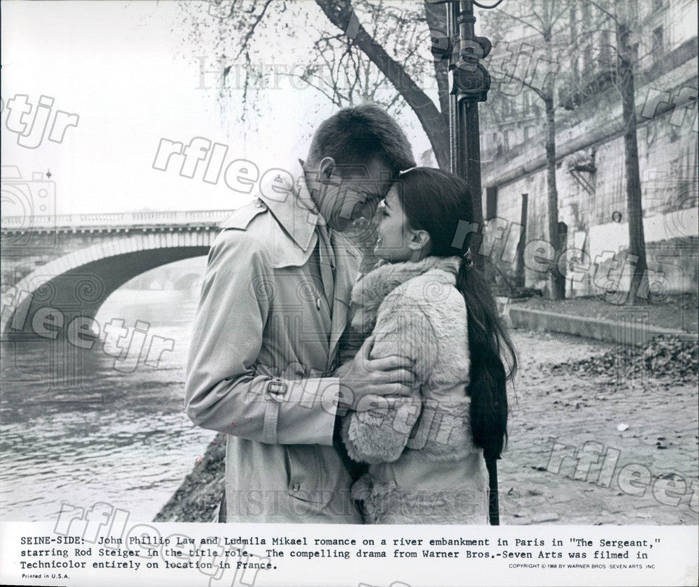 1968 Actors John Phillip Law & Ludmila Mikael in The Sergeant Press Photo adt413 - Historic Images