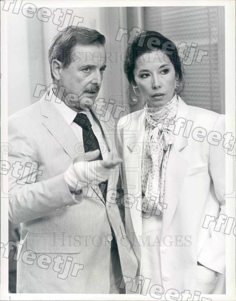 1986 Actors William Daniels, France Nuyen on TV St. Elsewhere Press Photo adt477 - Historic Images