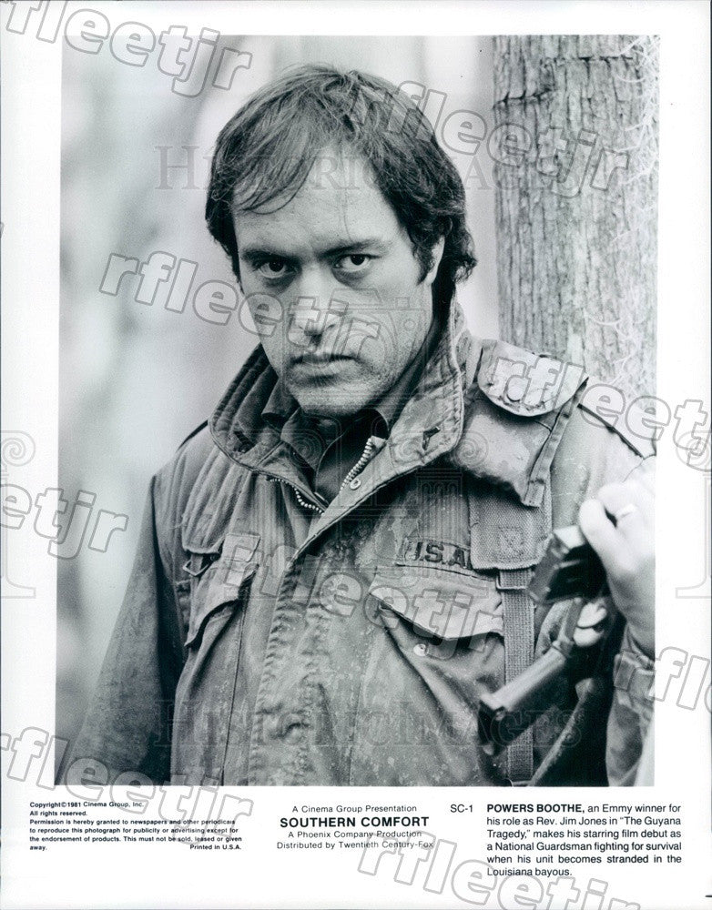 1981 Emmy Winning Actor Powers Boothe in Southern Comfort Press Photo adt537 - Historic Images