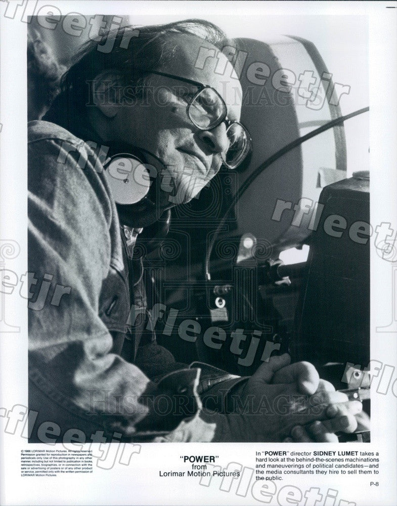 1986 Film Director, Producer Sidney Lumet of Film Power Press Photo adt93 - Historic Images