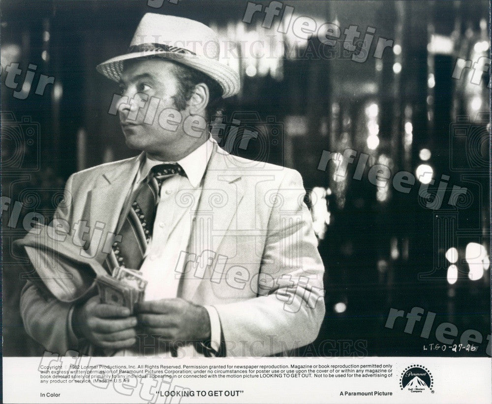 1982 Hollywood Actor Burt Young in Film Looking To Get Out Press Photo adu149 - Historic Images
