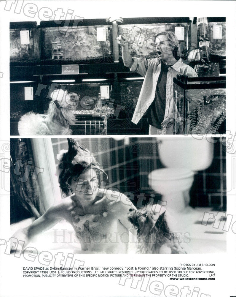 1999 Hollywood Actor David Spade in Film Lost & Found Press Photo adu271 - Historic Images