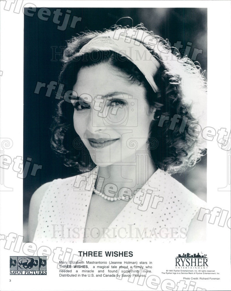 1995 Actress Mary Elizabeth Mastrantonio in Film Three Wishes Press Photo adu279 - Historic Images
