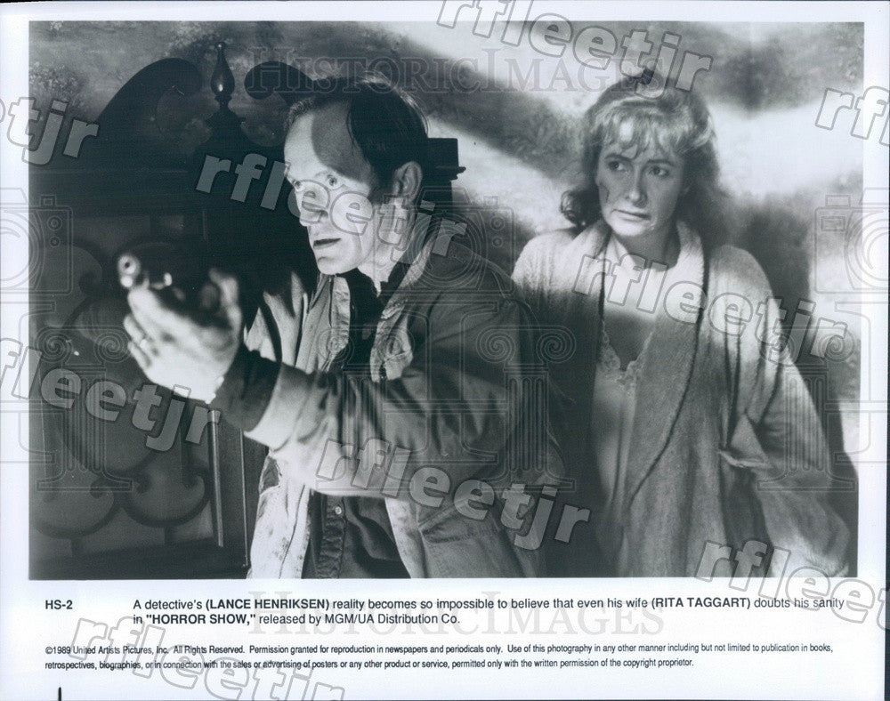 1989 Actors Lance Henriksen & Rita Taggart in Film Horror Show Press Photo adu3 - Historic Images