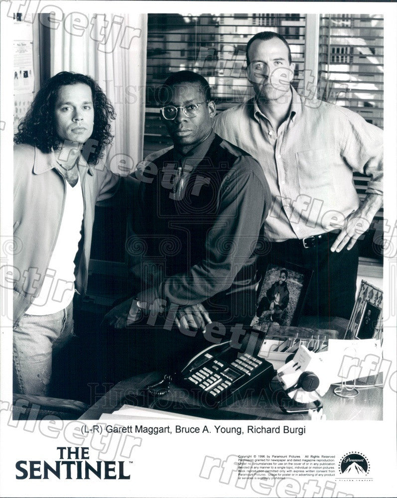 1996 Actors Garett Maggart, Bruce A. Young, Richard Burgi Press Photo adu307 - Historic Images