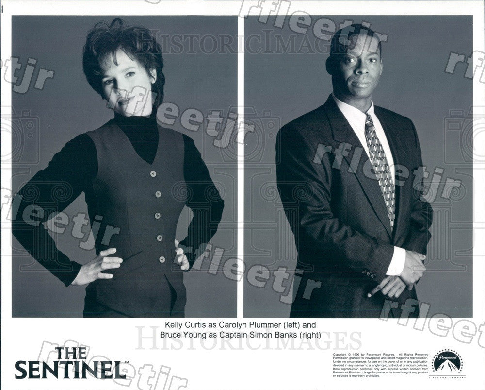 1996 Actors Kelly Curtis & Bruce Young in The Sentinel Press Photo adu311 - Historic Images