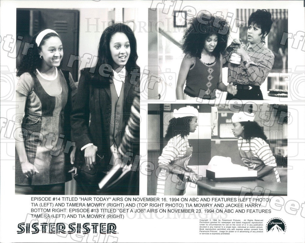 1994 Actresses Tia & Tamera Mowry, Jackee Harry on TV Press Photo adu365 - Historic Images