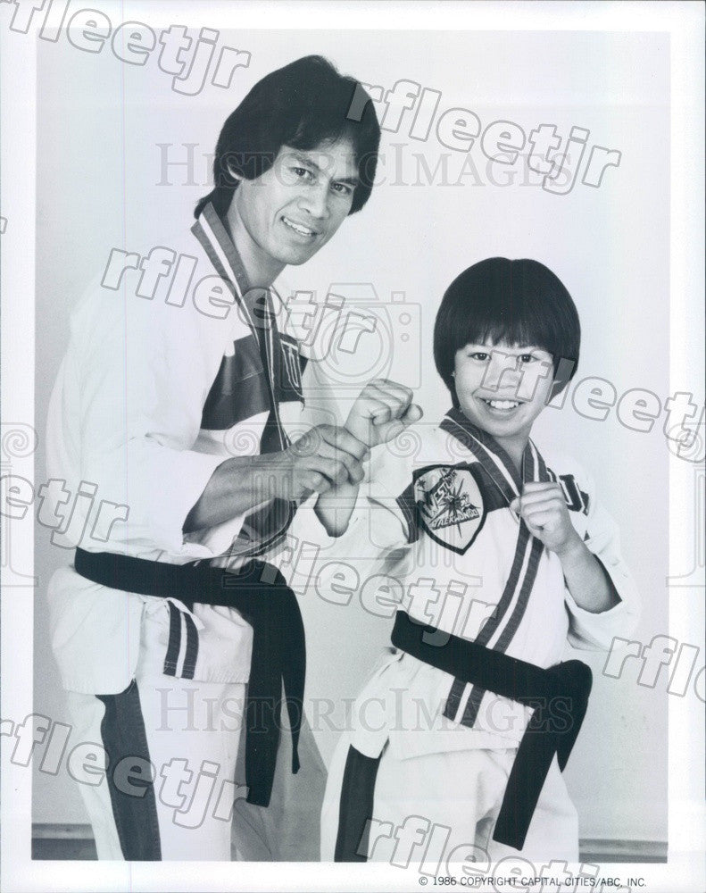 1986 Actors Ernie Reyes Jr, Ernie Reyes Sr, TV Show Sidekicks Press Photo adu401 - Historic Images