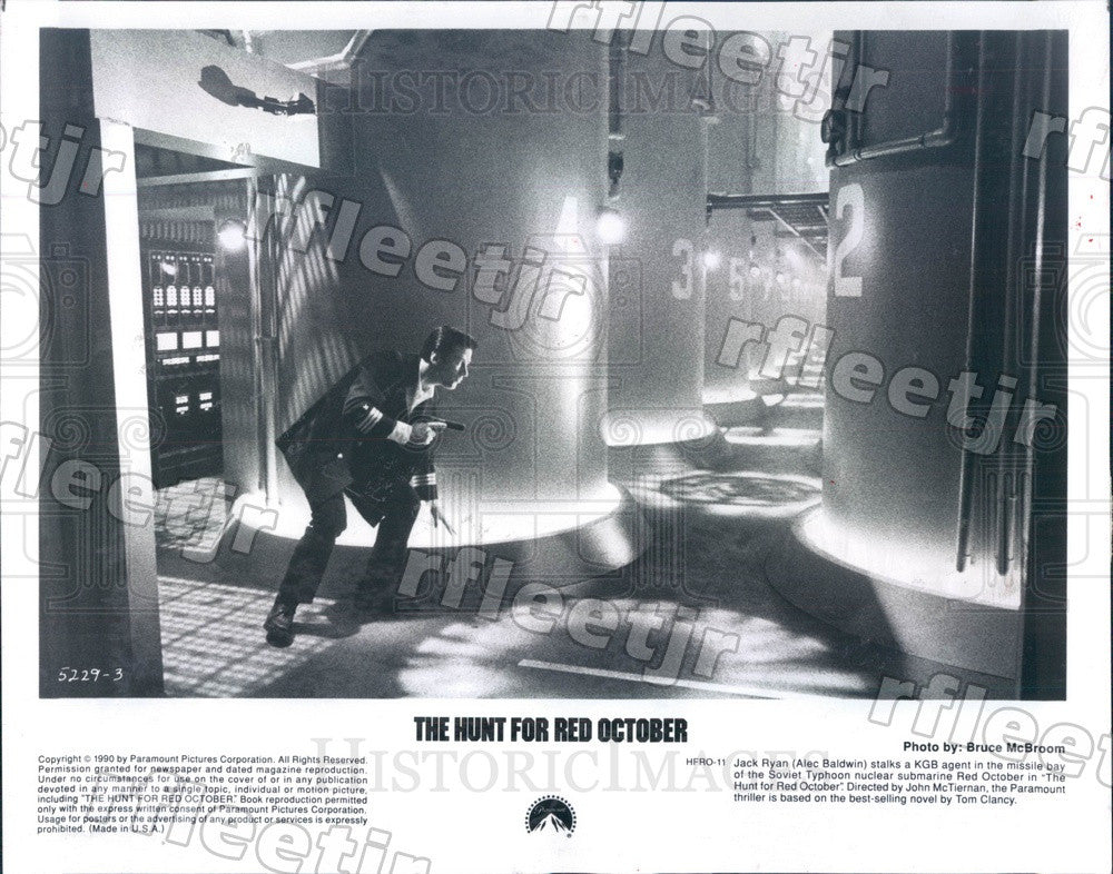 1990 Emmy Winner Alec Baldwin in The Hunt For Red October Press Photo adu439 - Historic Images