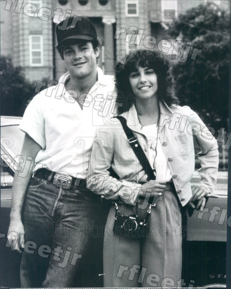 1987 Actors Kathleen Quinlan, David Keith in Independence Day Press Photo adu451 - Historic Images